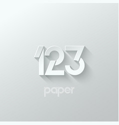 Number one 1 two 2 three 3 logo paper set vector