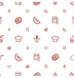 Nutrition icons pattern seamless white background vector