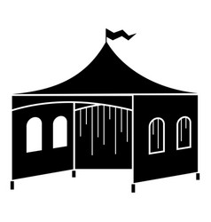 Outdoor festive tent icon simple style vector