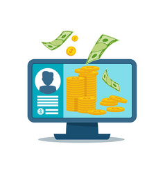payment computer concept vector image