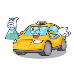 Professor taxi character cartoon style vector
