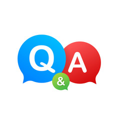 Question and answer bubble chat on white vector