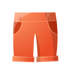 Red cute trendy shorts for summer golf game vector