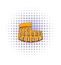 Roman Colosseum icon comics style vector image