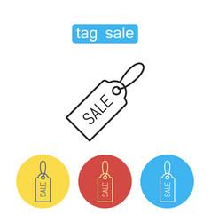 Sale price tag icon vector