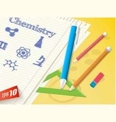 school subject background vector image