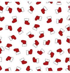 seamless santa boots background vector image