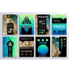 set brochure flyers and layout templates vector image