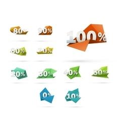 Set of discount stickers vector