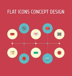 set of magazine icons flat style symbols with box vector image