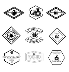 Set photography and logo templates vector