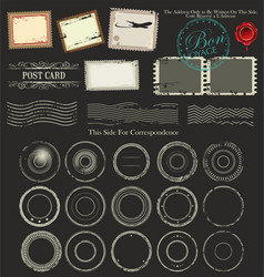 Set post stamp symbols vector