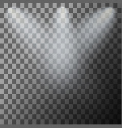 set stage illuminated spotlight vector image