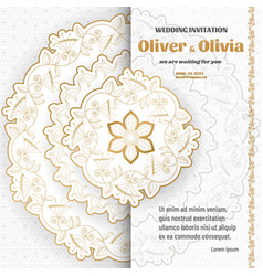 set wedding invitation templates with floral vector image