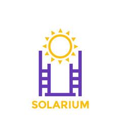 solarium icon logo on white vector image
