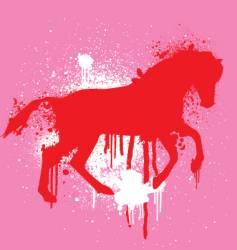stencil horse vector image vector image