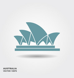Sydney opera house stylized icon in flat style vector