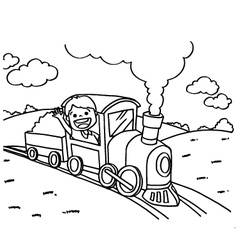 Train Coloring Pages vector