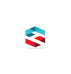 triangle shape s initial logo vector image