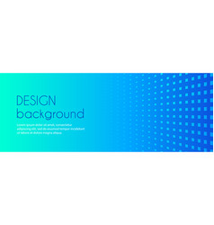 turquoise blue gradient minimal long banner vector image
