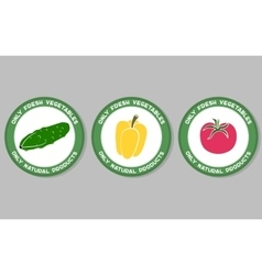 Vegetables Labels Set vector