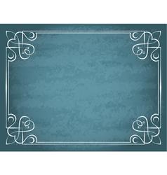 Vintage frame on a blue background vector