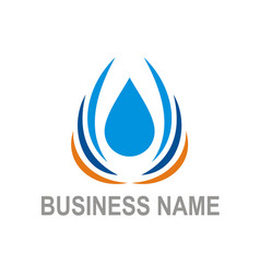 water drop bio ecology business logo vector image