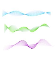 Waved design element vector image