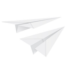 white paper airplanes vector image