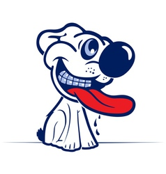 cartoon dog smile face in vector image