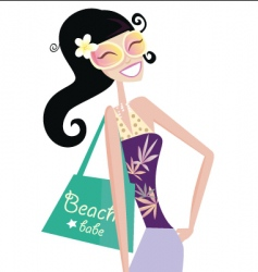 hot beach chic vector image vector image