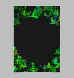 modern chaotic christmas design pine tree card vector image vector image
