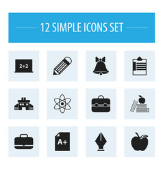 set of 12 editable knowledge icons includes vector image vector image