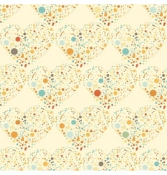 Splatter hearts seamless surface pattern vector image vector image