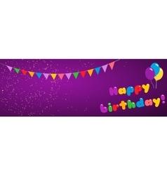 Background happy birthday vector image
