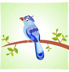 bird blue vector image vector image