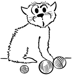 Domestic cat vector image vector image