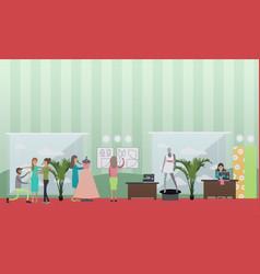 Fashion atelier concept in vector