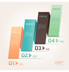 Modern origami style step up options banner vector image vector image