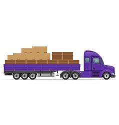 semi truck trailer concept 01 vector image vector image