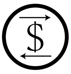 transfer money icon vector image vector image