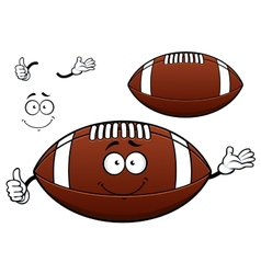 American football or rugby ball cartoon character vector image vector image