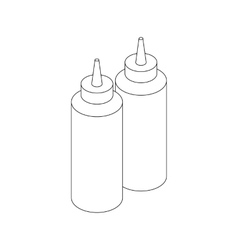 Sauce bottles icon isometric 3d style vector image vector image