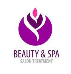 Spa treatment salon logo template vector image vector image