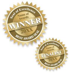 Winner and finalist award seals vector