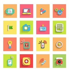 Flat icon set universal icons vector image vector image