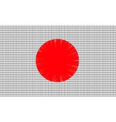 Japan flag embroidery design pattern vector image