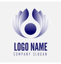 abstract logo label badge emblem or logotype vector image