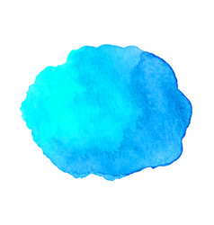 Abstract watercolor blue hand drawn texture vector