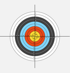Aim for archery crossbow on white background vector